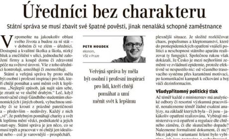 """Článek """"Úředníci bez charakteru"""" pro Lidové noviny"""
